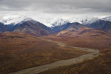 Polychrome Mountain range in Denali National Park, Alaska, United States of America, North America
