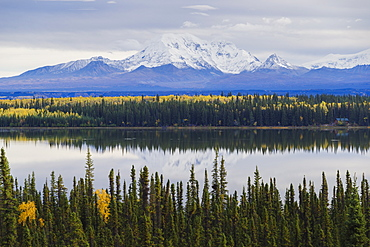 Wrangell-St. Elias National Park landscape from the Willow Lake, UNESCO World Heritage Site, Alaska, United States of America, North America