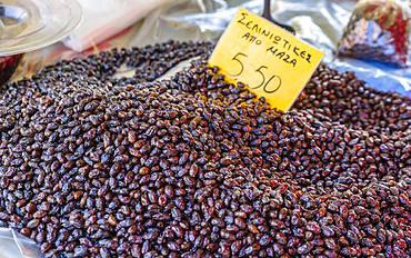 Dried olives, Chania, Crete, Greek Islands, Greece, Europe
