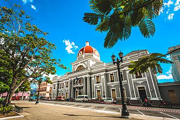 Parque Jose Marti, Palacio del Gobierno, Goverment House, Cienfuegos, UNESCO World Heritage Site, Cuba, West Indies, Caribbean