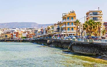 Waterfront, Chania, Crete, Greek Islands, Greece, Europe