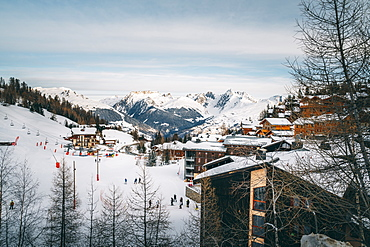 La Plagne ski resort, Tarentaise, Savoy, French Alps, France, Europe
