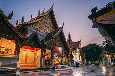 Sunrise at Wat Phra That Doi Suthep temple, Chiang Mai, Thailand, Southeast Asia, Asia