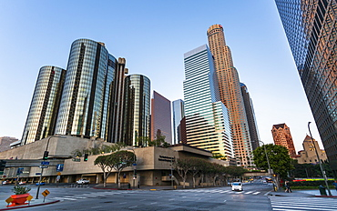 Downtown financial district of Los Angeles city, California, United States of America, North America