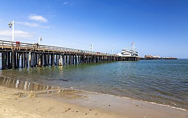Santa Barbara beach and Santa Barbara pier, Santa Barbara, California, United States of America, North America