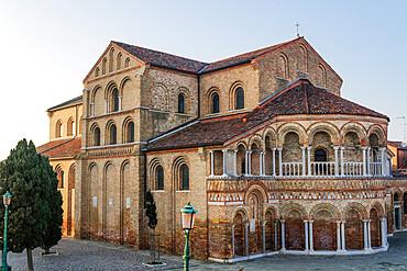 Murano, Italy external day view of 7th century Basilica Santa Maria e San Donato (Basilica dei Santi Maria e Donato). - 1278-217