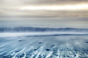 Black sand beach, Jokulsarlon, Iceland, Polar Regions