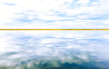 Lagoon reflections, Jokulsarlon, Iceland, Polar Regions