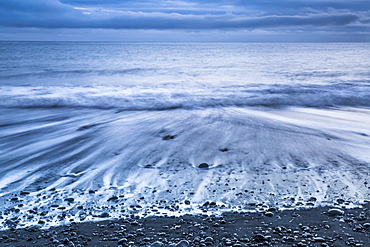 Jokulsarlon black sand beach, Iceland, Europe.