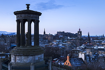 Edinburgh from Calton Hill, Edinburgh, Lothian, Scotland, United Kingdom, Europe