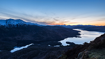 Ben A'an, one of the most popular of Scotland's smaller hills with stunning views over Loch Katrine, The Trossachs, Scotland, United Kingdom, Europe