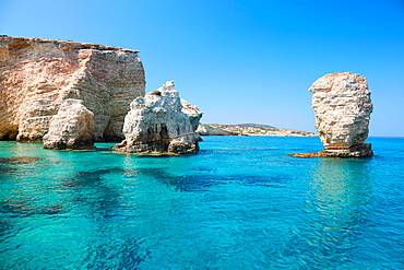 Kato Koufonisi rocks and cliffs, Koufonisi, Cyclades Islands, Greek Islands, Greece, Europe