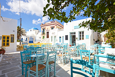 Central place in chora on serifos island