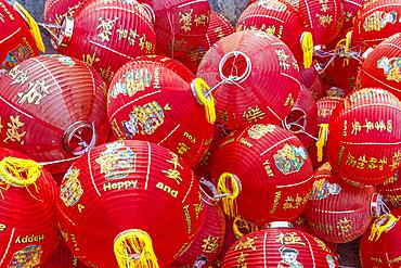Colourful lanterns at Kek Lok Si Temple, George Town, Penang, Malaysia, Southeast Asia, Asia