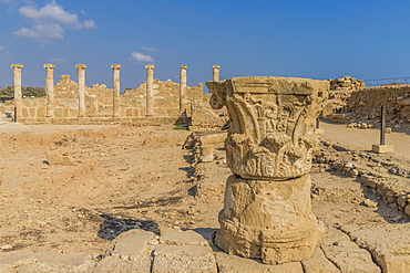 The House of Theseus in Paphos Archaeological Park, UNESCO World Heritage Site, Paphos, Cyprus, Europe