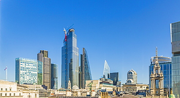 City of London skyline, London, England, United Kingdom, Europe