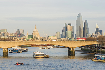 City of London skyline and River Thames, London, England, United Kingdom, Europe