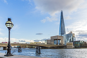 The Shard and the River Thames, London, England, United Kingdom, Europe