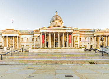 National Gallery, Trafalgar Square, London, England, United Kingdom, Europe