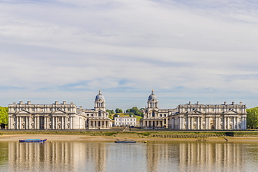 Old Royal Naval College, UNESCO World Heritage Site, and River Thames, Greenwich, London, England, United Kingdom, Europe