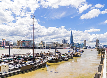 The Shard, Tower Bridge and River Thames, London, England, United Kingdom, Europe