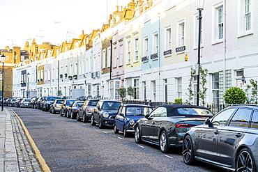 A street scene in Chelsea, London, England, United Kingdom, Europe