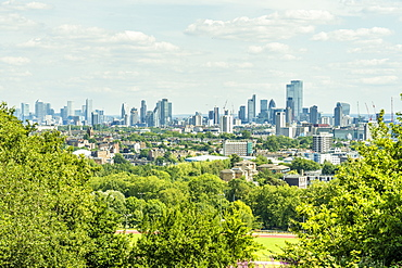The view from Primrose Hill, London, England, United Kingdom, Europe