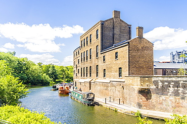 Coal Drops Yard and Regents Canal in King Cross, London, England, United Kingdom, Europe