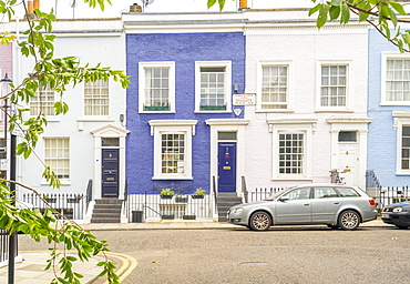 Colourful buildings in Notting Hill, London, England, United Kingdom, Europe