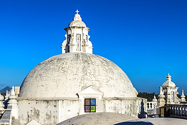 The beautiful white domes on the roof of the Cathedral of the Assumption, UNESCO World Heritage Site, Leon, Nicaragua, Central America