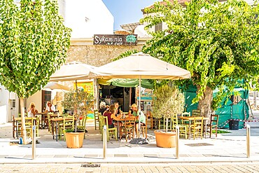Restaurant and cafe scene in Paphos, Cyprus, Europe