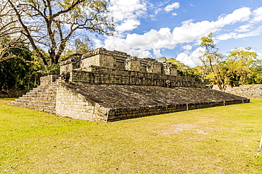 Ball Court, in the archaeological site of the Maya civilization, at Copan Ruins UNESCO World Heritage Site, Copan, Honduras, Central America
