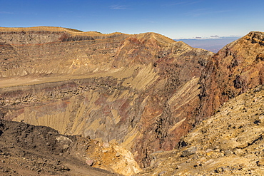 A view of the volcanic crater on Santa Ana Volcano in Santa Ana, El Salvador, Central America