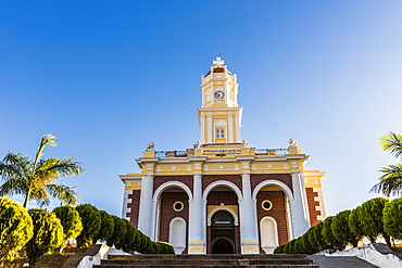 A front view of the church El Carmen, in Santa Ana, El Salvador, Central America