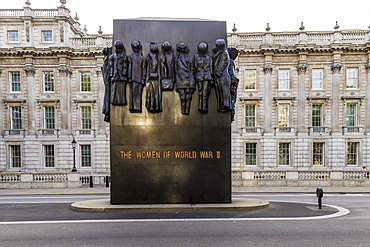 The Monument to the Women of World War II, in Whitehall, Westminster, London, England, United Kingdom, Europe