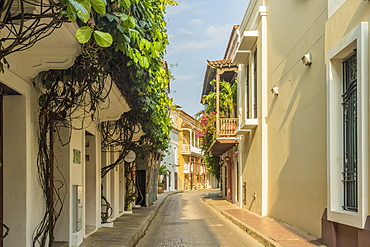 A street scene in Cartagena, Colombia, South America