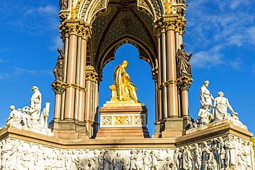 The Albert Memorial in Kensington Gardens, London, England, United Kingdom, Europe