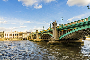 Southwark Bridge over the River Thames, London, England, United Kingdom, Europe
