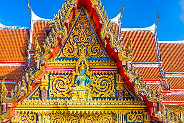 Beautiful detail on Wat Chalong Temple in Phuket, Thailand, Southeast Asia, Asia