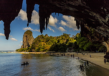 Phra Nang beach and karst landscapes in Railay, Ao Nang, Krabi Province, Thailand, Southeast Asia, Asia