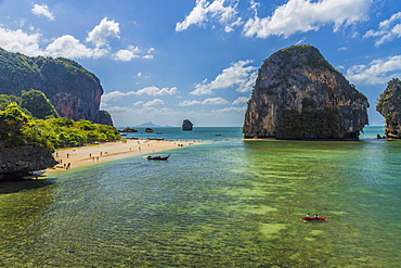 Karst landscapes in Railay, Ao Nang, Krabi Province, Thailand, Southeast Asia, Asia
