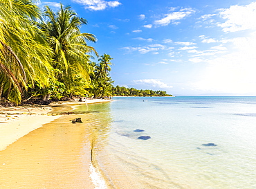A view of the Caribbean sea off Bocas del Drago beach, Colon Island, Bocas del Toro Islands, Panama, Central America