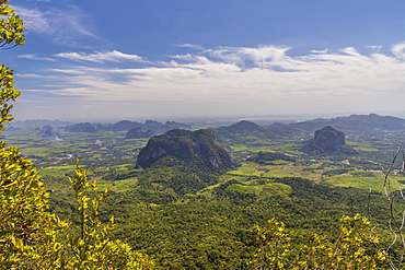 The view from Tab Kak Hang Nak viewpoint on Dragon Crest mountain in Thailand, Southeast Asia, Asia