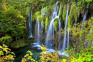 Waterfalls in Plitviche National Park, UNESCO World Heritage Site, Croatia, Europe