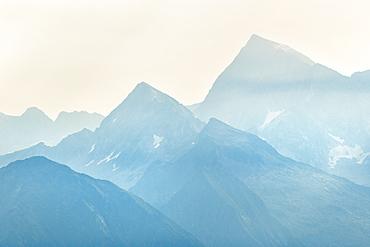 Mount Adamello at sunrise, Val Camonica, Brescia province, Lombardy, Italy, Europe