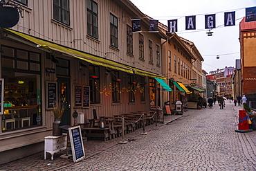 Haga district in spring, Goteborg (Gothenburg), Vastra-Gotaland County, Sweden, Scandinavia, Europe