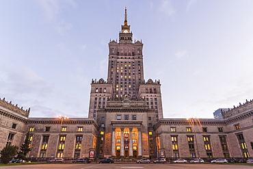 Palace of Culture and Science (Palac Kultury i Nauki), built in the 1950s, Warsaw, Poland, Europe