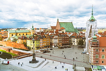Sigismund's Column at the Castle Square (Plac Zamkowy), Old City, UNESCO World Heritage Site, Warsaw, Poland, Europe