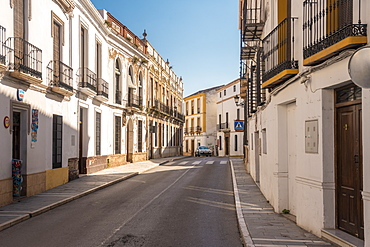Historic Calle Arminan in Ronda, Andalucia, Spain, Europe