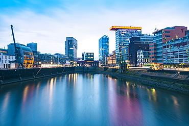 Gehry Buildings and Media Hafen, Dusseldorf, North Rhine-Westphalia, Germany, Europe